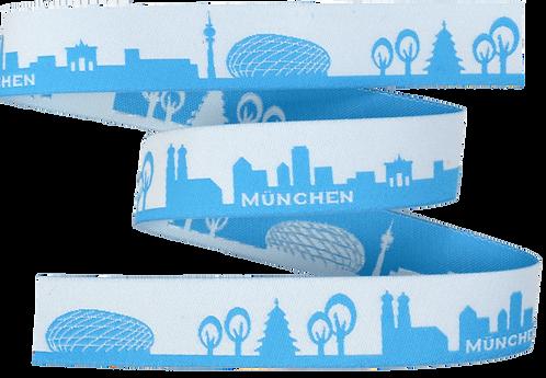 Webband München Hellblau 16mm