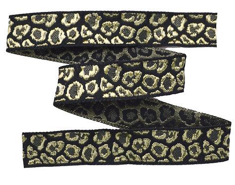 Webband Leopard Schwarz Gold 18mm