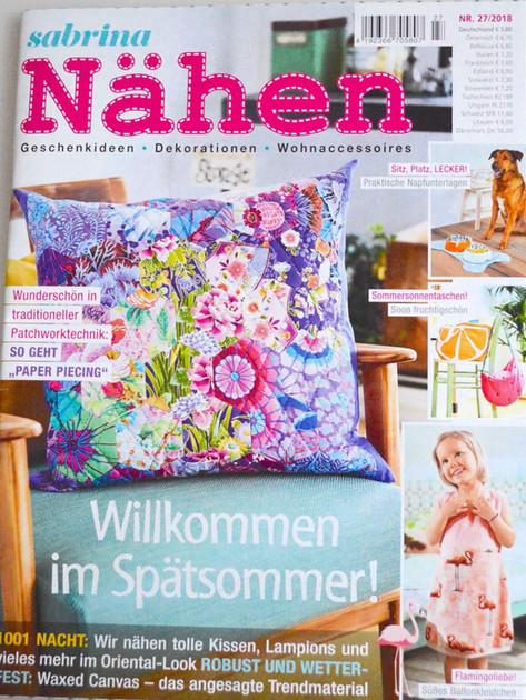 Sabrina Nähen _ Titelblatt 27/2018 Pfotenprunk