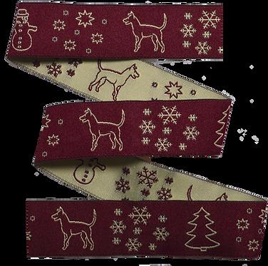 Webband Winterhunde Bordeaux 25mm
