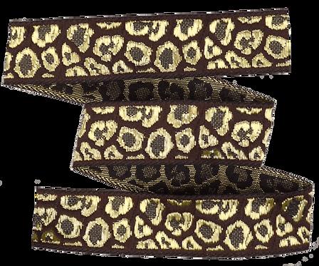 Webband Leopard Braun Gold 18mm