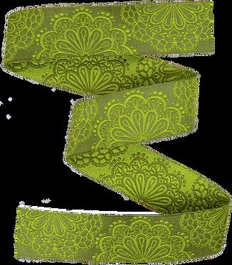 Webband Spitzenwerk Grün 16mm