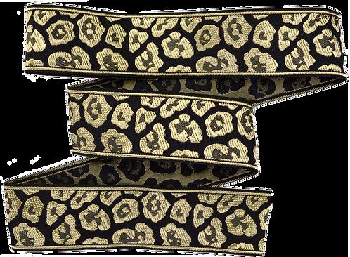 Webband Leopard Gold Schwarz 33mm