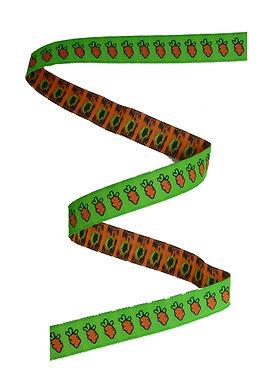 Webband Möhren Karotten Grün 11mm