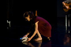 Katia Pagni with foot casts in Casts and Conversations by Fiona Quilligan.jpg