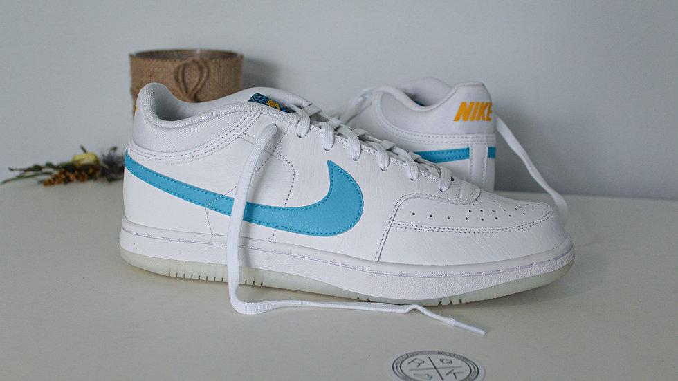 Nike Sky Force 3/4 White Blue Fury