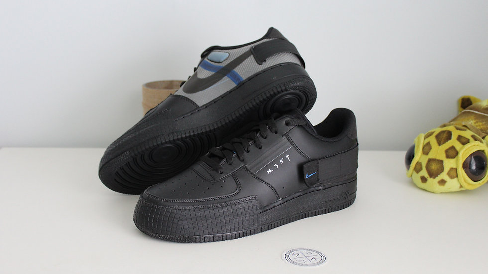 Nike Air Force 1 Type Black Photo Blue
