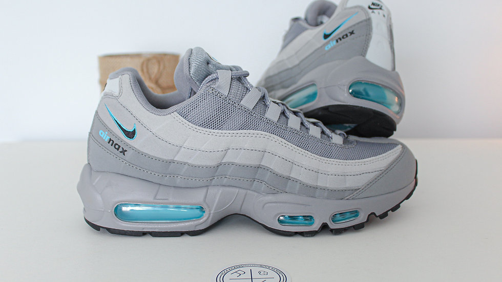 Nike Air Max 95 Retro Logo Grey Aqua