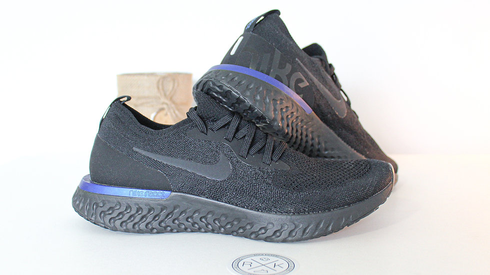 Nike Epic React Flyknit Black Racer Blue