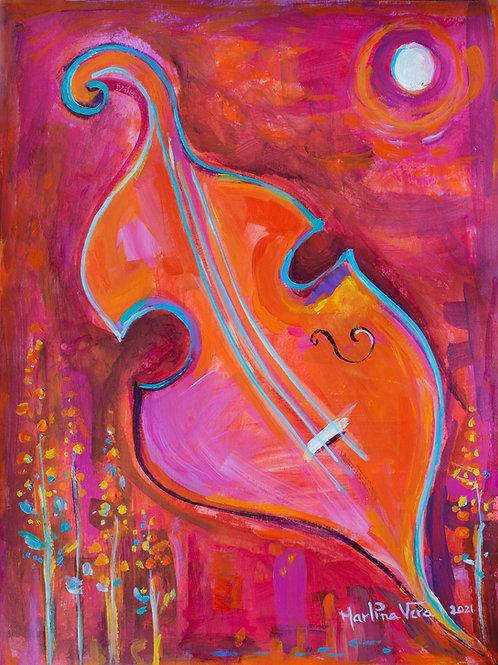 Red Cello inThe Garden