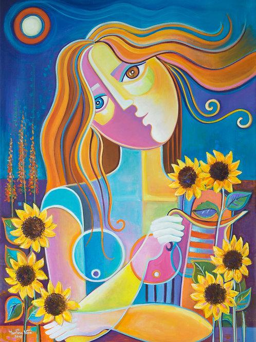 The Girl Among the Sunflowers
