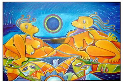 """Life Renaissance 36"""" x 24"""" Oil painting"""