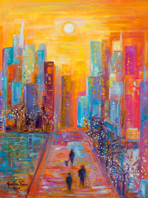 Walking in New York City      SOLD