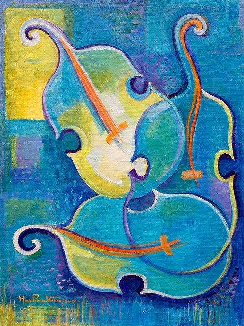 Tree Blue Violins