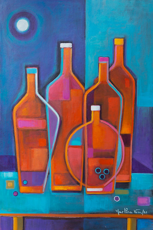 Cubist Wine # 14