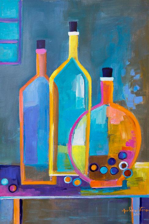 Cubist Wine #11