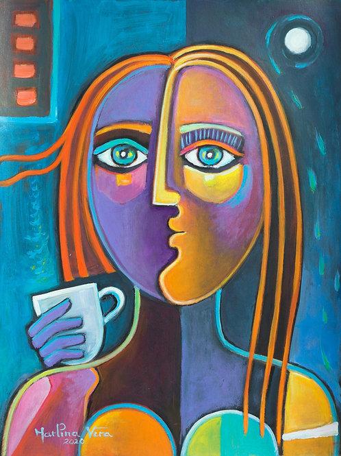 Un cafe al Amnecer/ A cup of coffee at Sunrise