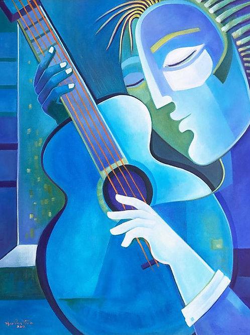 Blue Guitar Player