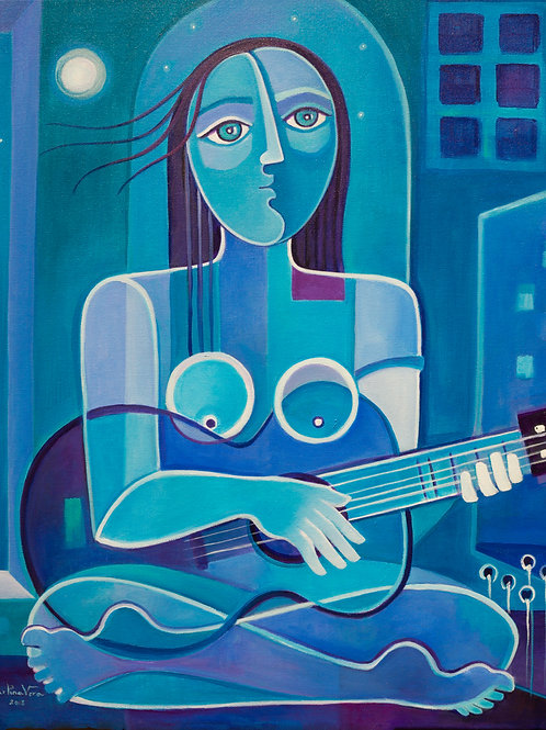 Blue Woman with a Blue Guitar