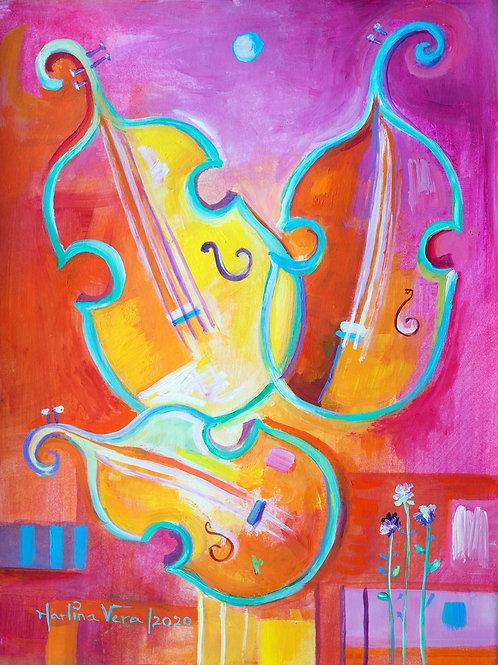 Blue Moon and Three Violins