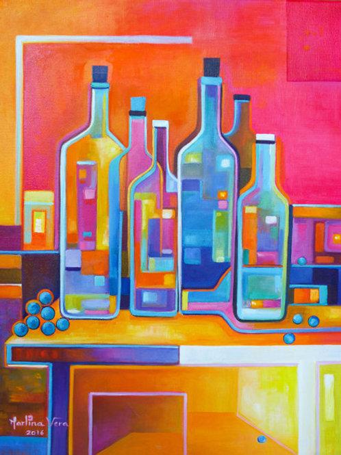 Cubist Wine #6