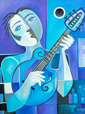 Blue Mandolinist
