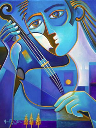 Blue Violinist