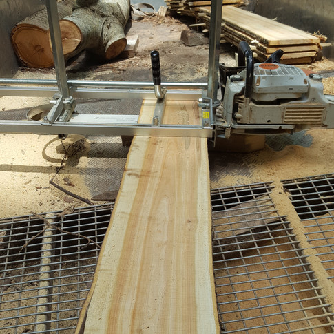 Mobile Sawmill in Kilve