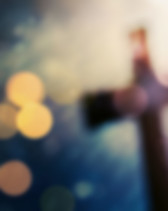 Beautiful bokeh with a cross in the back