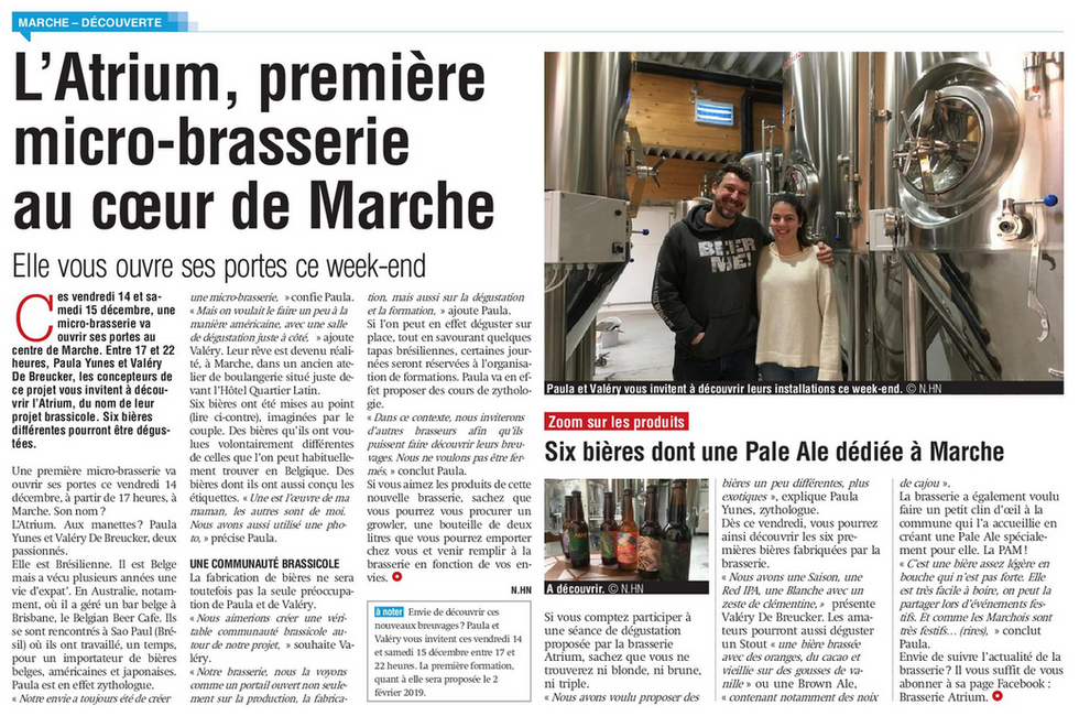 14/12/18 La Meuse - L'Atrium - micro brasserie