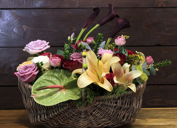 Big Basket of Flowers