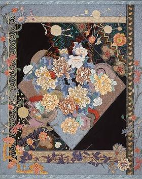 Miriam-Schapiro-Tapestry-of-Paradise-1980-60-x-50-inches-acrylic-fabric-glitter-on-canvas-
