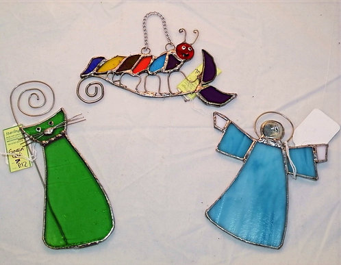Stained glass hangings/ artwork