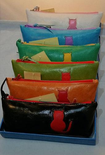 Soft leather makeup purse