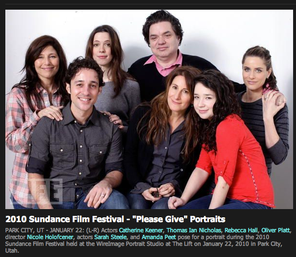 """Sundance Film Festival Thomas Ian Nicholas, Catherine Keener, Rebecca Hall, Nicole Holofcener, Sarah Steele, Amanda Peet and Oliver Platt """"Please Give"""" LIFE magazine event"""