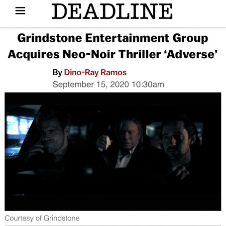 DEADLINE: Grindstone Entertainment Group Acquires Neo-Noir Thriller 'Adverse'