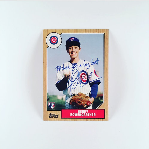 Rookie of the Year baseball card signed