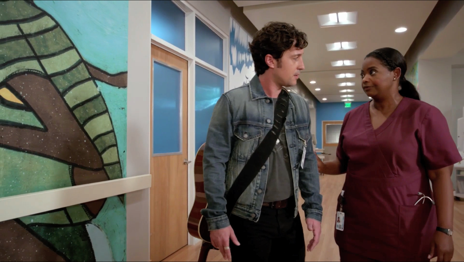 """Thomas Nicholas and Octavia Spencer in """"Red Band Society"""""""