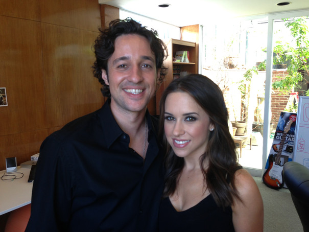 """Thomas Nicholas and Lacey Chabert the set of """"THE LOST TREE"""""""