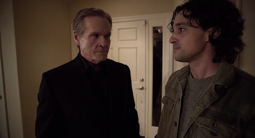 "Thomas Nicholas and William Sadler in ""Living Among Us"""