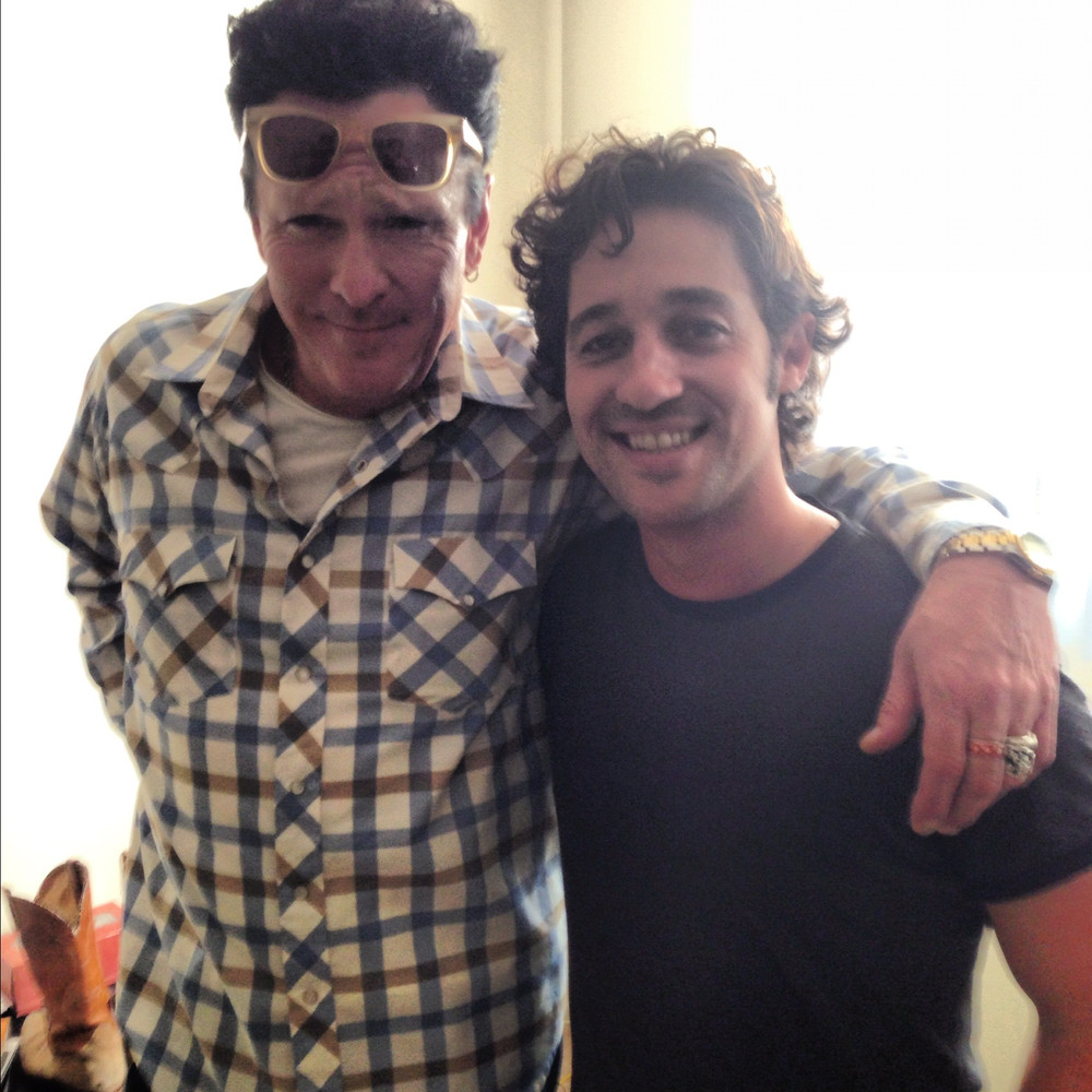 "Thomas Nicholas and Michael Madsen on the set of ""THE LOST TREE"""