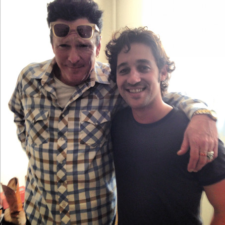 """Thomas Nicholas and Michael Madsen on the set of """"THE LOST TREE"""""""