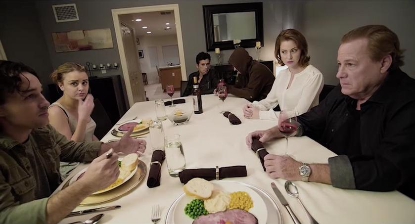 "Thomas Nicholas, John Heard, Esme Bianco, Jordan Hinson, Chad Todhunter and Andrew Keegan in ""Living Among Us"""