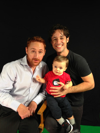 """Thomas Nicholas, Nolan River and Scott Grimes on the set of """"THE LOST TREE"""""""