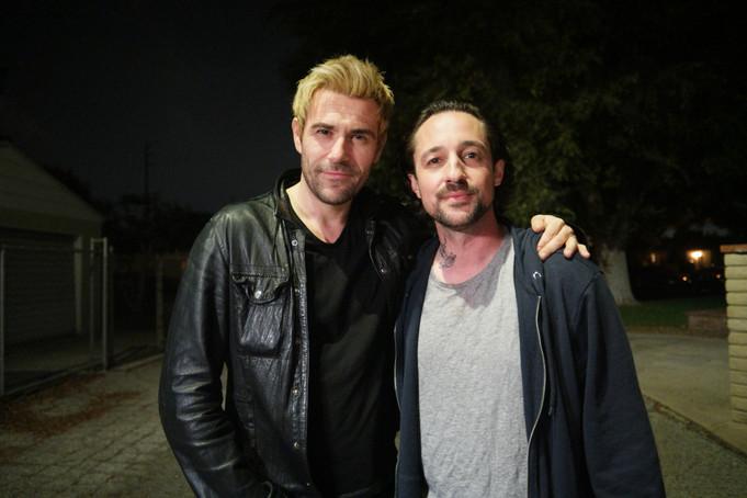 "Thomas Nicholas and Matt Ryan on the set of ""ADVERSE"""