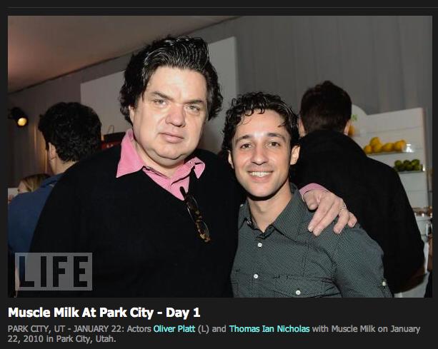 "Thomas Nicholas and Oliver Platt Sundance Film Festival ""Please Give"" LIFE magazine event"