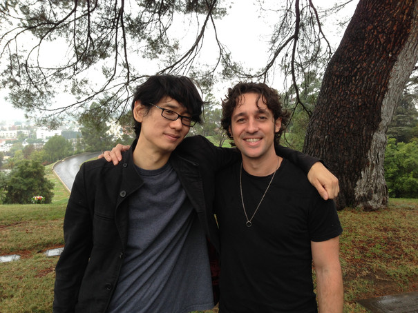 """Thomas Nicholas and Brian A. Metcalf on the set of """"THE LOST TREE"""""""
