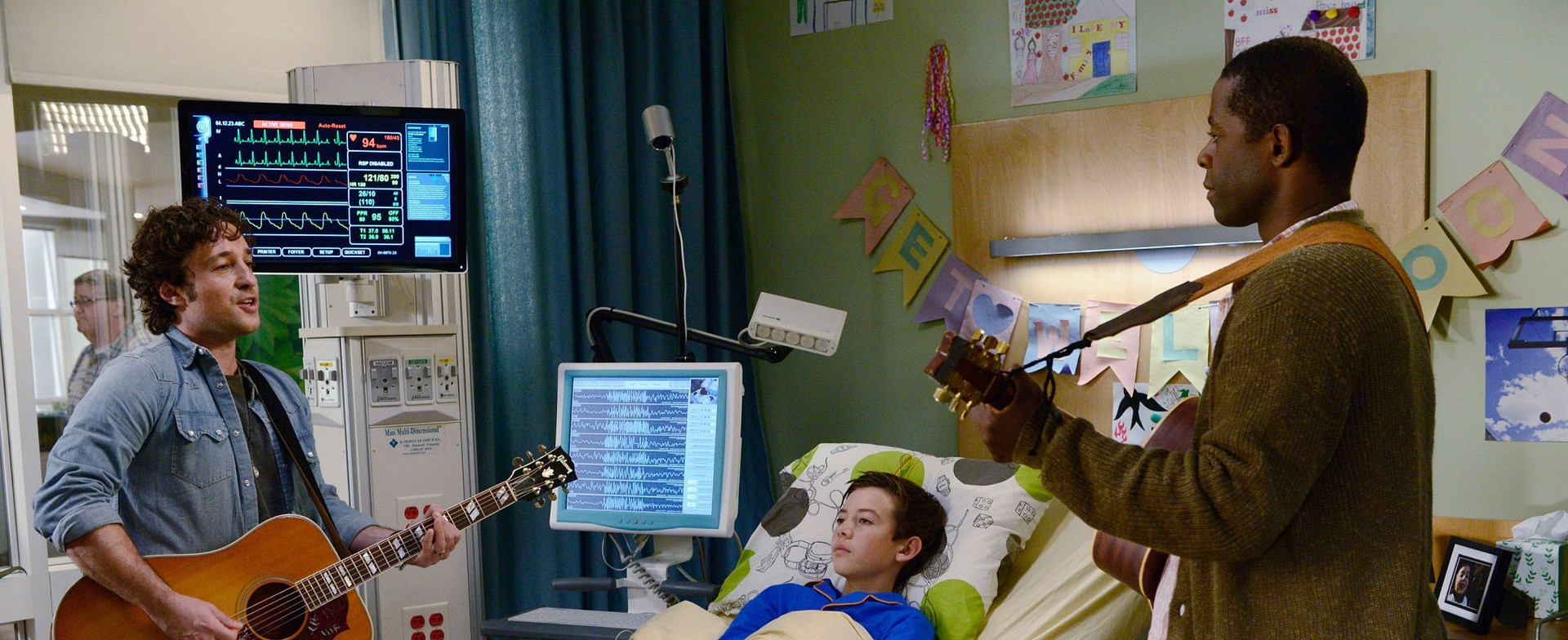 """Thomas Nicholas, Griffin Gluck and Adrian Lester in """"Red Band Society"""""""