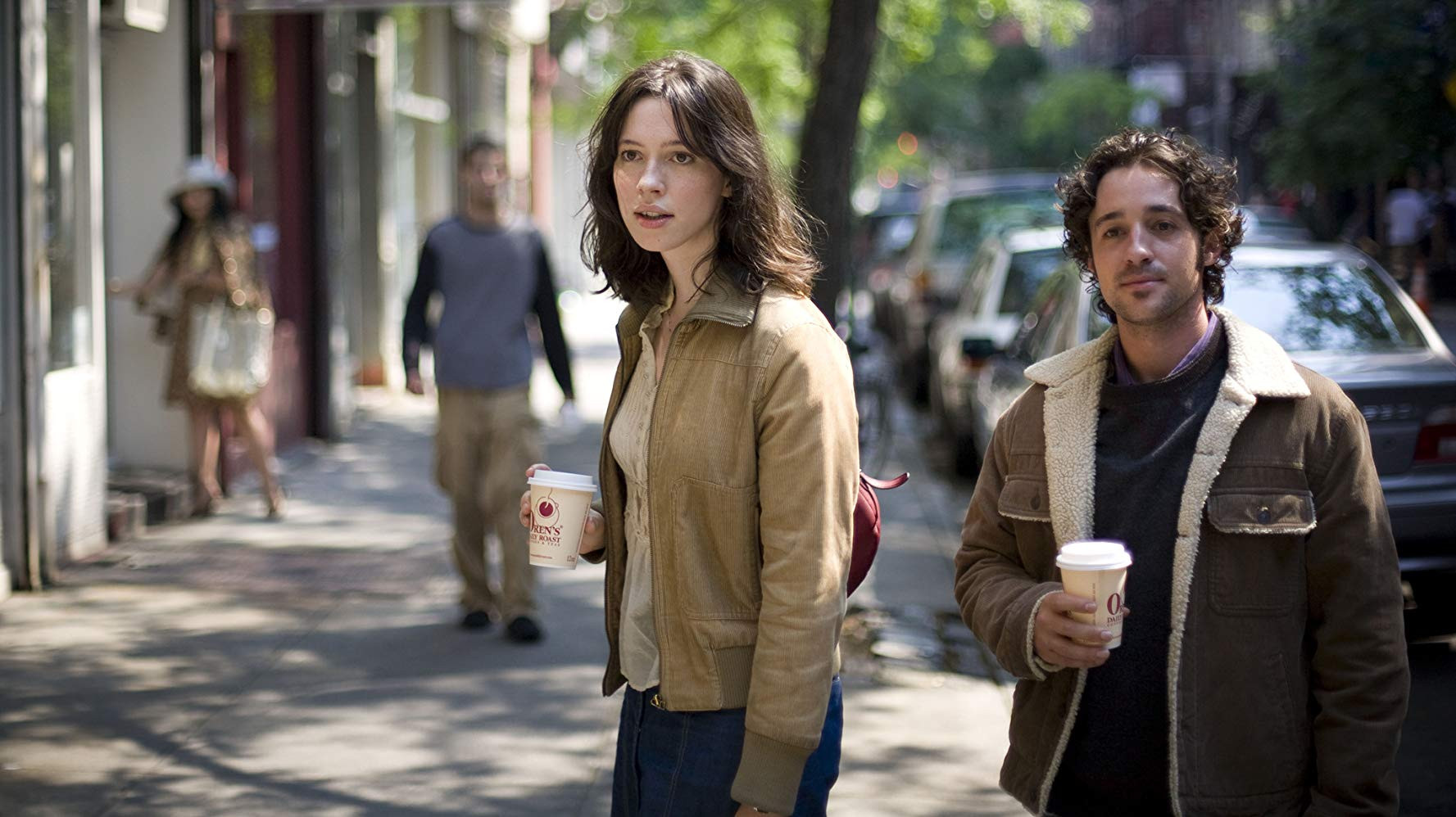 """Thomas Nicholas and Rebecca Hall in """"Please Give"""""""