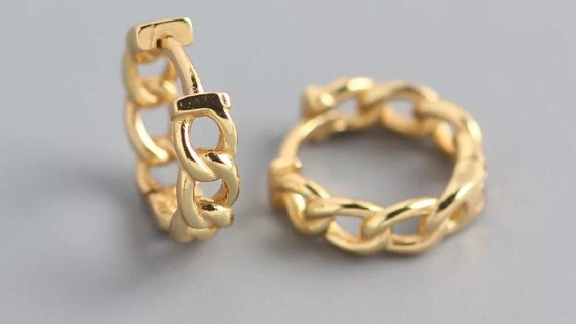 Mini arito cadena Gold